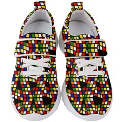 Graphic Pattern Rubiks Cube Cube Kids  Velcro Strap Shoes