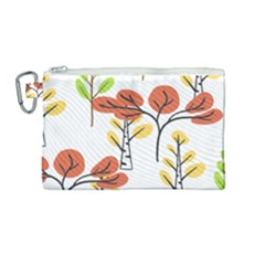 Tree Autumn Forest Landscape Canvas Cosmetic Bag (medium)