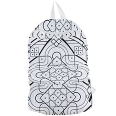 Mandala Drawing Dyes Page Foldable Lightweight Backpack