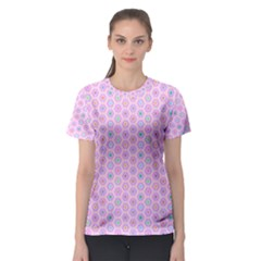 A Hexagonal Pattern Women s Sport Mesh Tee