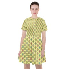 A Hexagonal Pattern Sailor Dress