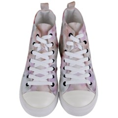 Abstract Watercolor Seamless Women s Mid Top Canvas Sneakers
