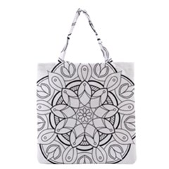 Mandala Drawing Dyes Page Grocery Tote Bag