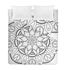 Mandala Drawing Dyes Page Duvet Cover Double Side (full/ Double Size)
