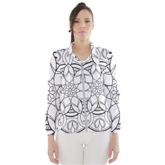 Mandala Drawing Dyes Page Windbreaker (women)