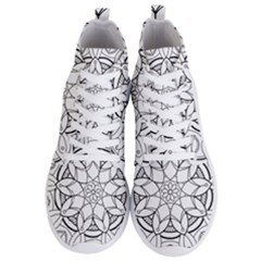 Mandala Drawing Dyes Page Men s Lightweight High Top Sneakers