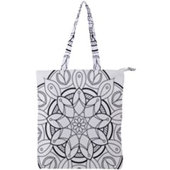 Mandala Drawing Dyes Page Double Zip Up Tote Bag