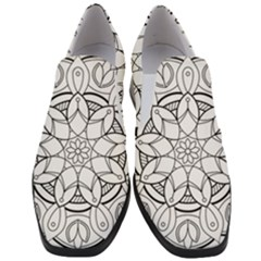 Mandala Drawing Dyes Page Slip On Heel Loafers