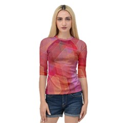 Abstract Background Texture Quarter Sleeve Raglan Tee by Pakrebo
