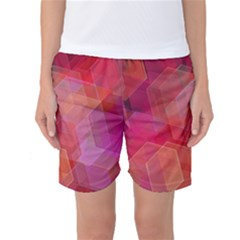Abstract Background Texture Women s Basketball Shorts