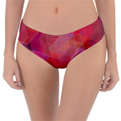 Abstract Background Texture Reversible Classic Bikini Bottoms
