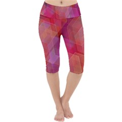 Abstract Background Texture Lightweight Velour Cropped Yoga Leggings