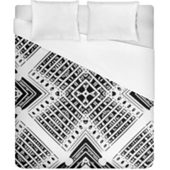 Pattern Tile Repeating Geometric Duvet Cover (california King Size)