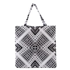 Pattern Tile Repeating Geometric Grocery Tote Bag