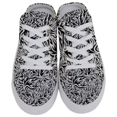 Flames Fire Pattern Digital Art Half Slippers