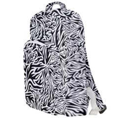 Flames Fire Pattern Digital Art Double Compartment Backpack