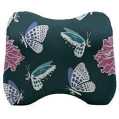 Butterfly Pattern Dead Death Rose Velour Head Support Cushion