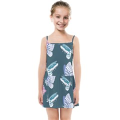 Butterfly Pattern Dead Death Rose Kids  Summer Sun Dress