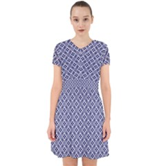 Wreath Differences Indigo Deep Blue Adorable In Chiffon Dress