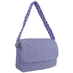 Wreath Differences Indigo Deep Blue Courier Bag