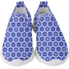 A Hexagonal Pattern Kids  Slip On Sneakers