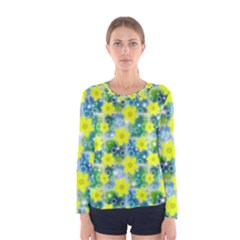 Narcissus Yellow Flowers Winter Women s Long Sleeve Tee