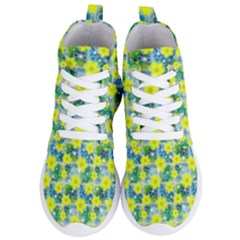 Narcissus Yellow Flowers Winter Women s Lightweight High Top Sneakers