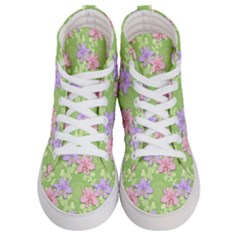 Lily Flowers Green Plant Natural Men s Hi Top Skate Sneakers