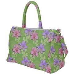 Lily Flowers Green Plant Natural Duffel Travel Bag
