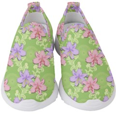 Lily Flowers Green Plant Natural Kids  Slip On Sneakers