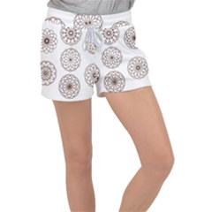 Graphics Geometry Abstract Women s Velour Lounge Shorts