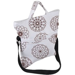 Graphics Geometry Abstract Fold Over Handle Tote Bag