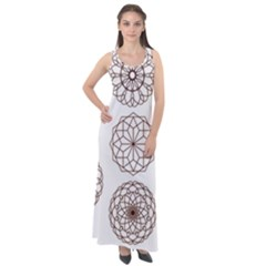 Graphics Geometry Abstract Sleeveless Velour Maxi Dress