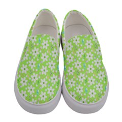 Zephyranthes Candida White Flowers Women s Canvas Slip Ons
