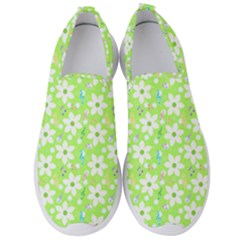 Zephyranthes Candida White Flowers Men s Slip On Sneakers by Pakrebo