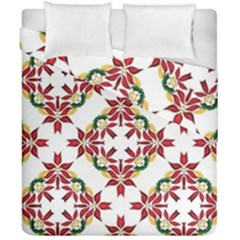 Christmas Wallpaper Background Duvet Cover Double Side (california King Size)