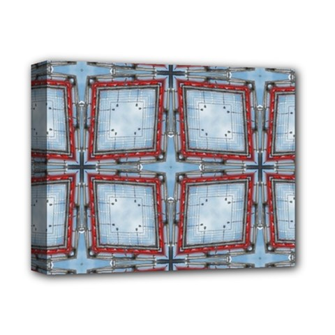 Pattern Cross Geometric Shape Deluxe Canvas 14  X 11  (stretched)