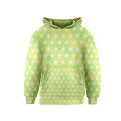 Traditional Patterns Hemp Pattern Green Kids  Pullover Hoodie