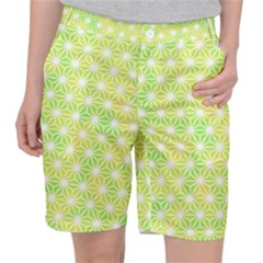 Traditional Patterns Hemp Pattern Green Pocket Shorts