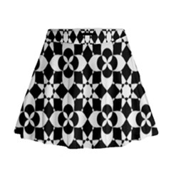 Mosaic Floral Repeat Pattern Mini Flare Skirt