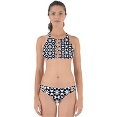 Mosaic Floral Repeat Pattern Perfectly Cut Out Bikini Set by Pakrebo
