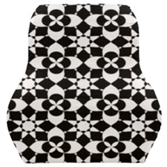 Mosaic Floral Repeat Pattern Car Seat Back Cushion