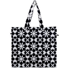 Mosaic Floral Repeat Pattern Canvas Travel Bag by Pakrebo