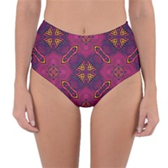 Backdrop Background Cloth Colorful Reversible High-waist Bikini Bottoms