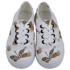Pattern Dragonfly Background Kids  Classic Low Top Sneakers