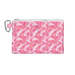 Phlox Spring April May Pink Canvas Cosmetic Bag (medium)