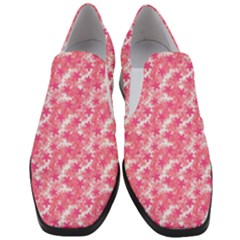 Phlox Spring April May Pink Slip On Heel Loafers