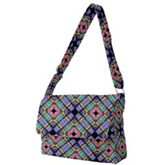 Pattern Wallpaper Background Full Print Messenger Bag