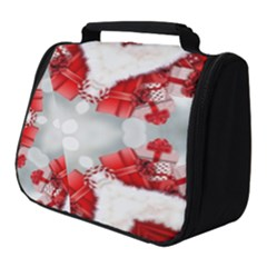 Christmas Background Tile Gifts Full Print Travel Pouch (small)