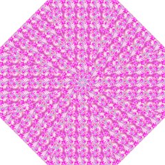 Maple Leaf Plant Seamless Pattern Pink Folding Umbrellas